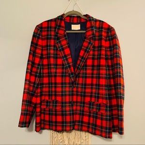 Women's Pendleton Holiday Plaid Blazer